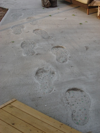 Footprints Made In Concrete Pick Me Yard