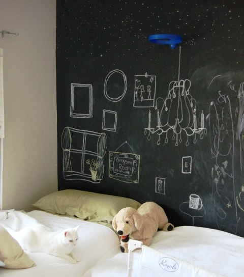 Chalkboard Paint In Kids Bedroom Pick Me Yard